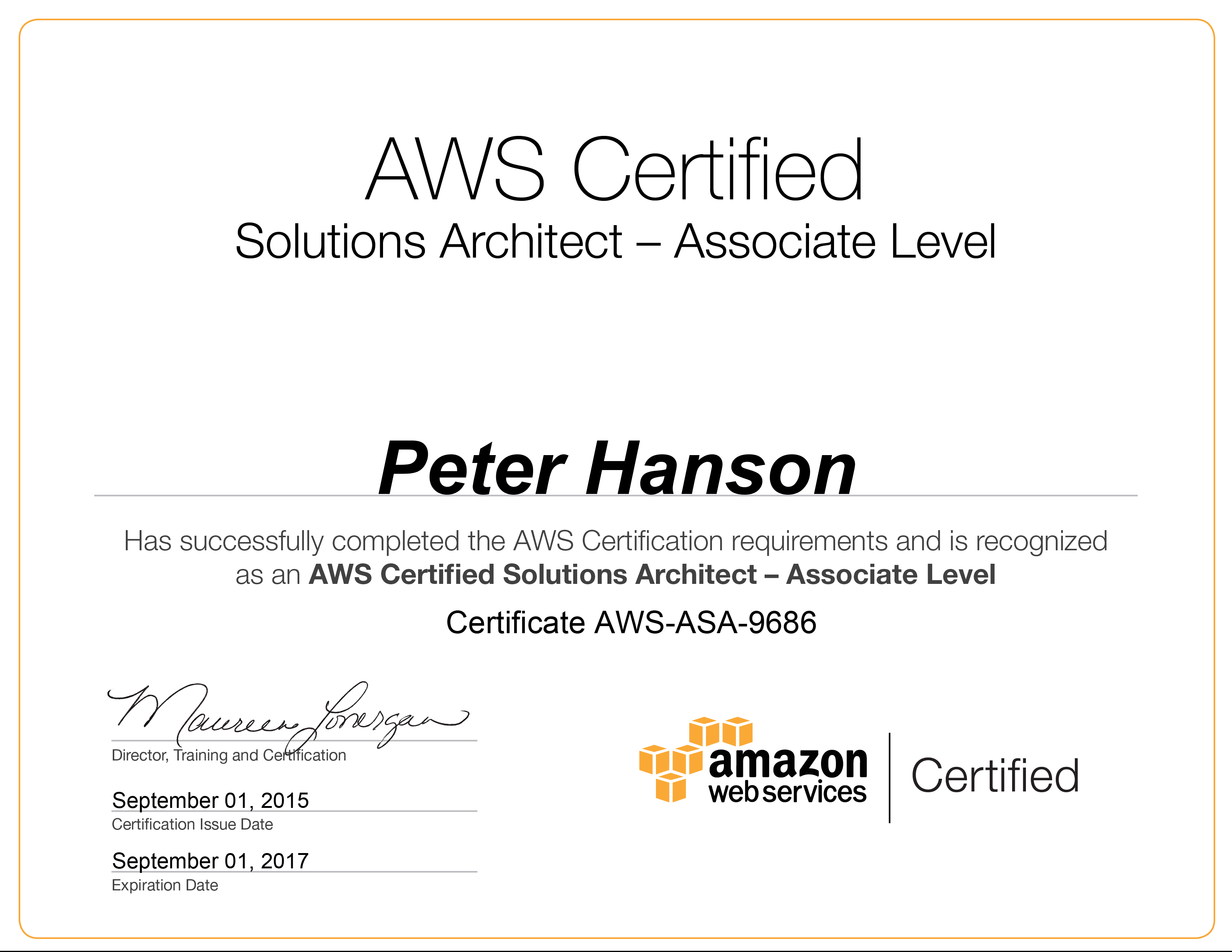 aws certificate aws resume points
